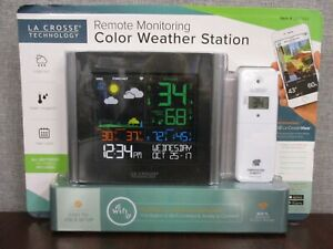 NEW La Crosse Technology Remote Monitoring Color Weather Station V10-TH/LTV-TH2