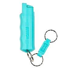 Sabre Pepper Spray + Quick Release Key Ring - Police Strength - Aqua
