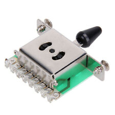 5 Way Electric Guitar Pickup Toggle Selector Switch Parts Chrome With Knob