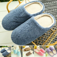 New Colcor Size Shoes Warm Soft Winter Non-slip Men Slippers Indoor Home Room