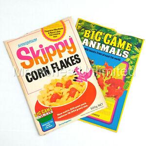 "1976 Sanitarium Skippy Corn Flakes ""BIG GAME ANIMALS BOX PANELS"" r&l"