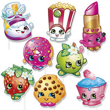 8 Shopkins Children's Birthday Party Favors Gifts Loot Treat Photo Props W/Stick