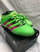 NEW Adidas Ace 16.3 PrimeMesh TF J Soccer Cleats AQ2559 -Green Pink Black