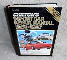 # 7672  Chilton's Import Car Repair Manual 1980-1987 , Hardcover