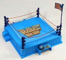 WWF HASBRO BLUE RING WITH FLAG AND BELT 1989 WWE VINTAGE
