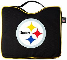 NFL Pittsburgh Steelers STADIUM SEAT CUSHION w Handle Padded Bleacher Pad Game
