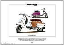 LAMBRETTA SX200 Scooter - Fine Art Print - Innocenti Mods Quadrophenia The Who