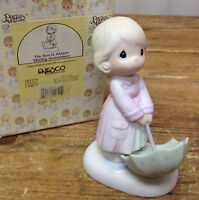 Precious Moments Figurine The Sun is Always Shining Somewhere 163775 Umbrella