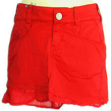 NEW MISS SIXTY ITALY RED SKIRT  S M  4 6 8 10   $280 COTTON PEPLUM