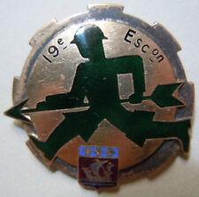 insigne Train - 19è Escadron  émail sans fabricant authentique