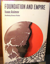 Foundation And Empire, Isaac Asimov (1952) HC.DJ.1st. W/ Hand Signed Card