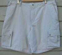 Columbia Men's 42 Beige 6 Pocket Cargo Shorts 100% Cotton