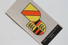 6179 SHELL Straßenkarte 18 Baden Wappen Baden, Württemberg 1935 Landkarte