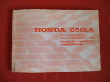 HONDA C50 LA GENUINE OWNERS MANUAL