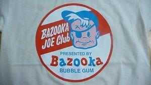 New,BAZOOKA JOE CLUB T-Shirt Size Small.Retro 70's Bubblegum,Sweets,Tuck Shop