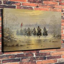 Canvas HD Print Art Painting Civil War The Confederate Army Wall Deco (Unframed)