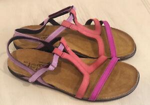Women's Naot Judith Pink Plum-Brick Red-Lilac NEW- Choose Size