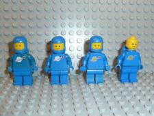 LEGO® Space Classic 4x Figur Astronaut blau mit Airtank aus 6971 6940 6972 F693