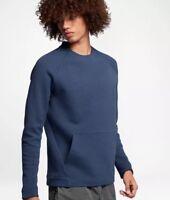 Nike Sportswear Tech Fleece Crew Men's Sweatshirt Lg Blue Gym Casual New