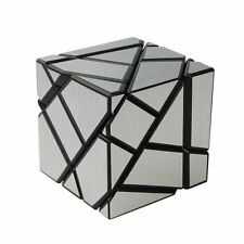 Ghost Cube 3x3 Puzzle Cube Magic Cube Black Silver with Base Holder Bag  smoothy