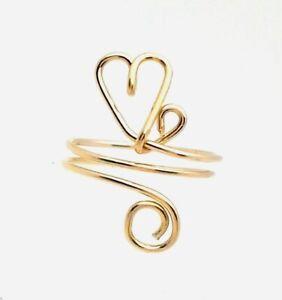 Toe Ring   14 k Gold Filled  Floating Heart