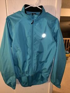 Womens CANARI full zip cycling biking reflective windbreaker jacket ~ M ~ Blue