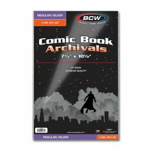 25 Silver / Regular 4-Mil Mylar Archivals Comic Book Bags (1 pack) by BCW
