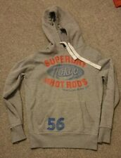 Men's Grey Small Superdry 'Hot Rods' Hoodie