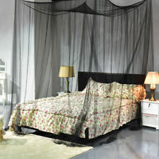 4 Corner Post Bed Canopy Mosquito Net Bedding Netting Full/Queen/King Size Black