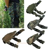 Adjustable Airsoft Tactical Military Pistol Gun Drop Leg Thigh Holster Pouch Bag