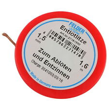 Felder 27161500 Kupferlitze Lötzinn absaugen Entlötlitze rot 1,6m 1,5mm 856973