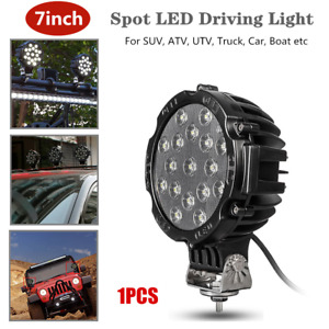 """7""""Round Spot LED Driving Light Off Road SUV Fog Driving Bumper Lamp Fit For Jeep"""