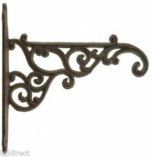 "Decorative Plant Hanger Ornate Victorian Cast Iron Flower Basket Hook 8.375"" N"