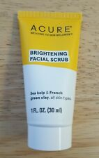 NEW Acure Brightening Facial Scrub Travel Size 30ml 1oz