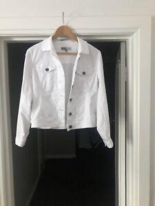Jacket White Stretch Denim
