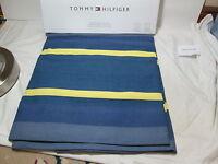 "Tommy Hilfiger BIGHORN STRIPE Window Panels Two-50""x84"" ~ Blue, Yellow, White"