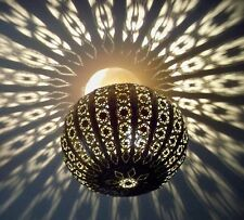 30 cm !! Lustre plafonnier marocain fer forgé lampe applique lanterne oriental 3