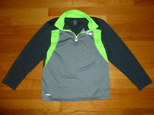 Champion Duo Dry 1/4 Zip Boys Long Sleeve Pullover Track Jacket Size M 8-10