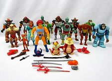 Vtg 1985 Thundercats LJN Lot of 16 Action Figures with Accessories & Weapons