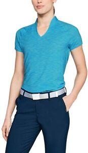 *NWT* Under Armour Women's Blue Threadborne Edge Golf Polo M