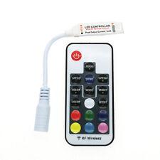 DC5-24V Mini 17 key RF Wireless Remote Control 3528 5050 RGB LED Light Strip