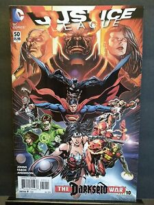 Justice League #50 NM+ 9.6 New 52 Jessica Cruz Green Lantern 3 Jokers 1st Print