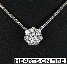 """$1,850 Hearts On Fire 18K White Gold 0.20ct Diamond Beloved Pendant Necklace 20"""""""