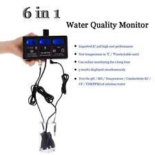 6 in 1 Professional Water Quality Tester pH RH EC CF TDS Temp Meter Tool US Plug