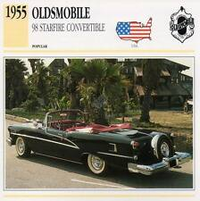 1955 OLDSMOBILE 98 STARFIRE Classic Car Photograph / Information Maxi Card
