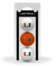 Miami Hurricanes 3pk Golf Balls, NEW In Packaging