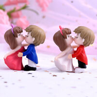 Romantische Paare DIY Miniatur Figur Garten Dollhouse Decor Micro Landschaft