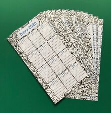 Personal Filofax Paper Set - 2020 Calendar Diary 'Colour in' Patterned Design