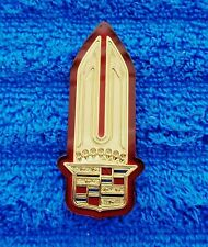 NEW NOS OEM GM Original 80s-90s Cadillac GOLD Tail Light Crest Ornament Emblem