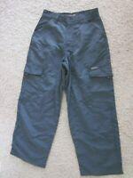 Rare JNCO JEANS RIVITORS NWT Cargo Pants Nylon Grey/Green Wind Pants  30 x 30